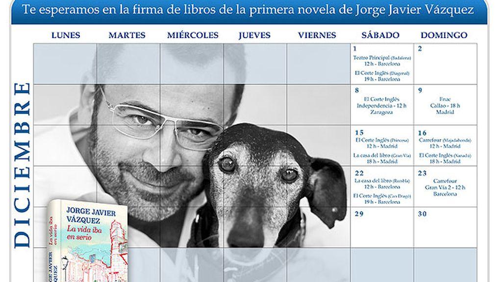 calendario firmas Jorge Javier Vázquez