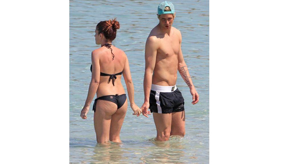 Fernanado Torres y su mujer Olalla en Ibiza