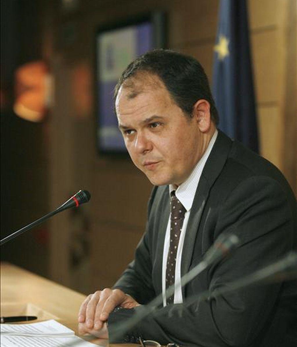 El secretario de Estado de Economía, David Vegara, durante una rueda de prensa para analizar los datos de Contabilidad Nacional. ERFE/Archivo