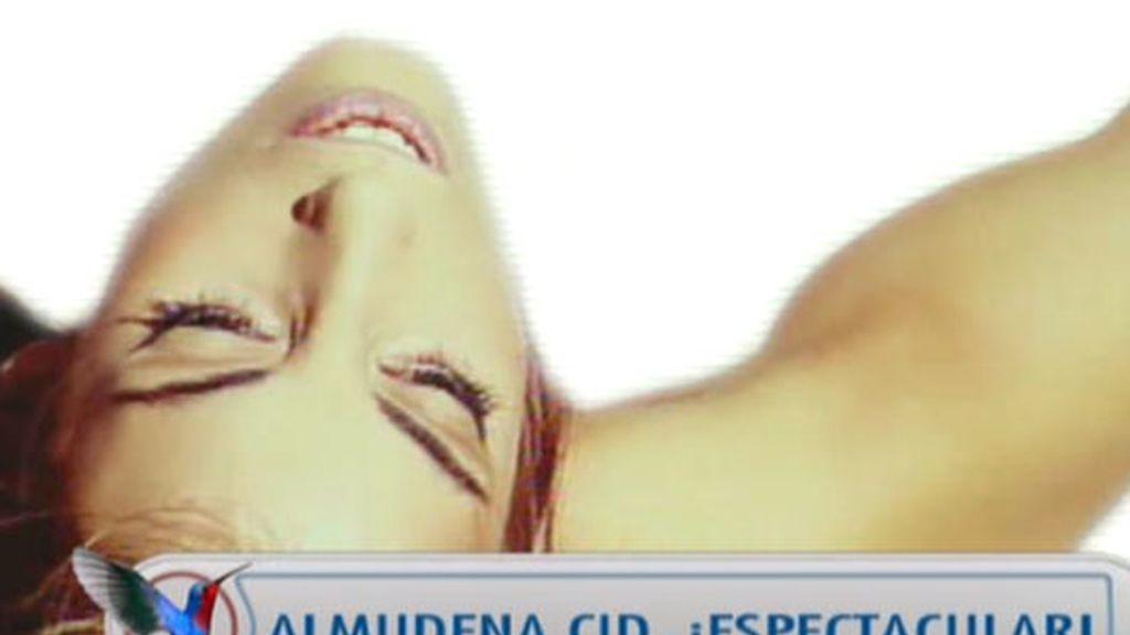 Almudena Cid, radiante