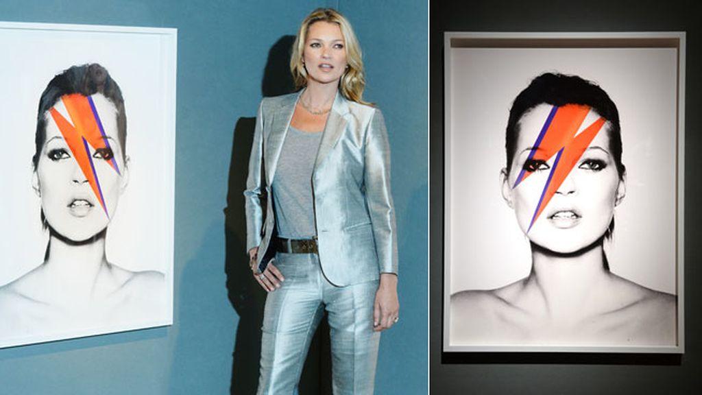 Kate se convirtió en la portada de Vogue en el año 2011, rindiendo tributo a David Bowie, fotografiada por por Nick Knight y titulada 'Kate, Aladdin Sane'