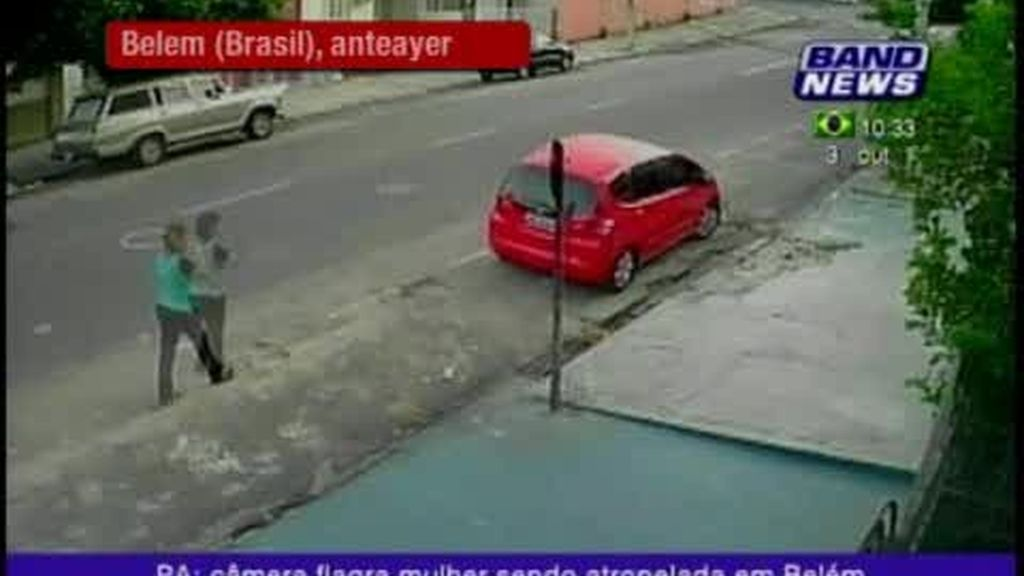 Espectacular atropello en Brasil