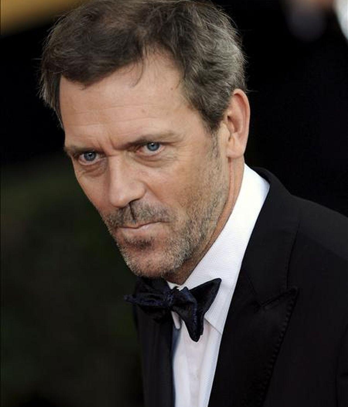 El actor Hugh Laurie el pasado 25 de enero, a su llegada a la entrega anual de los Premios del Sindicato de Actores de la Pantalla (SAG), que se lleva a cabo en el Auditorio Shrine de Los Ángeles, California (EEUU). EFE/Archivo