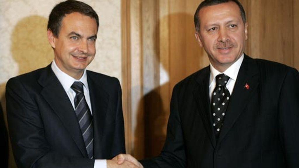 2006: Zapatero y el presidente Erdogan