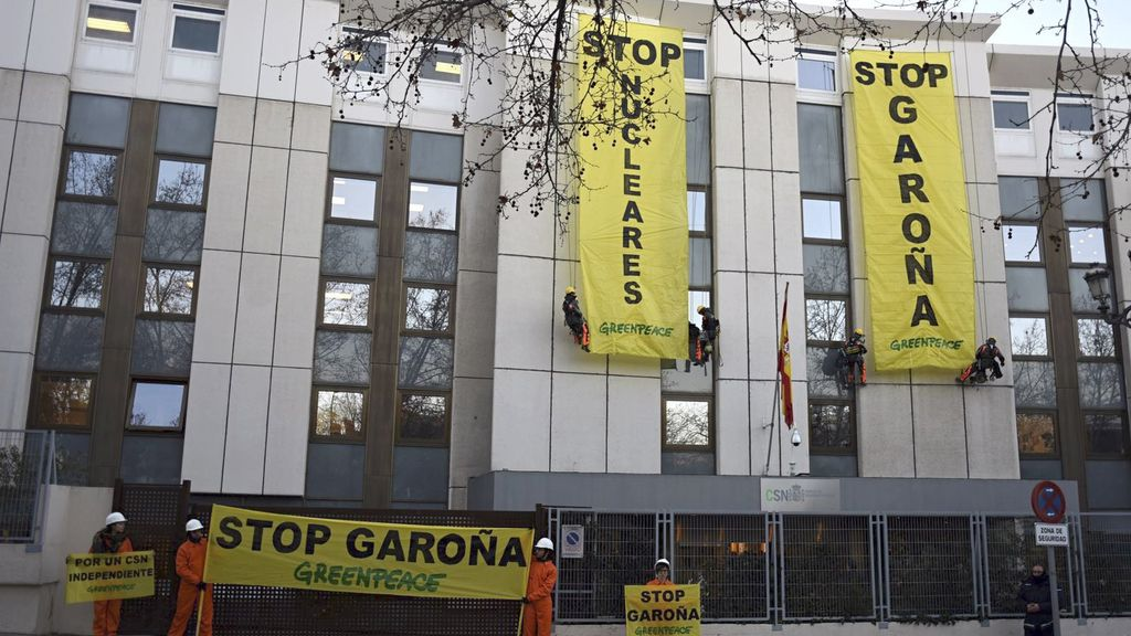 Protesta de Greenpeace en CSN