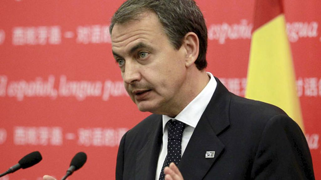 Zapatero durante su intervención en Pekín