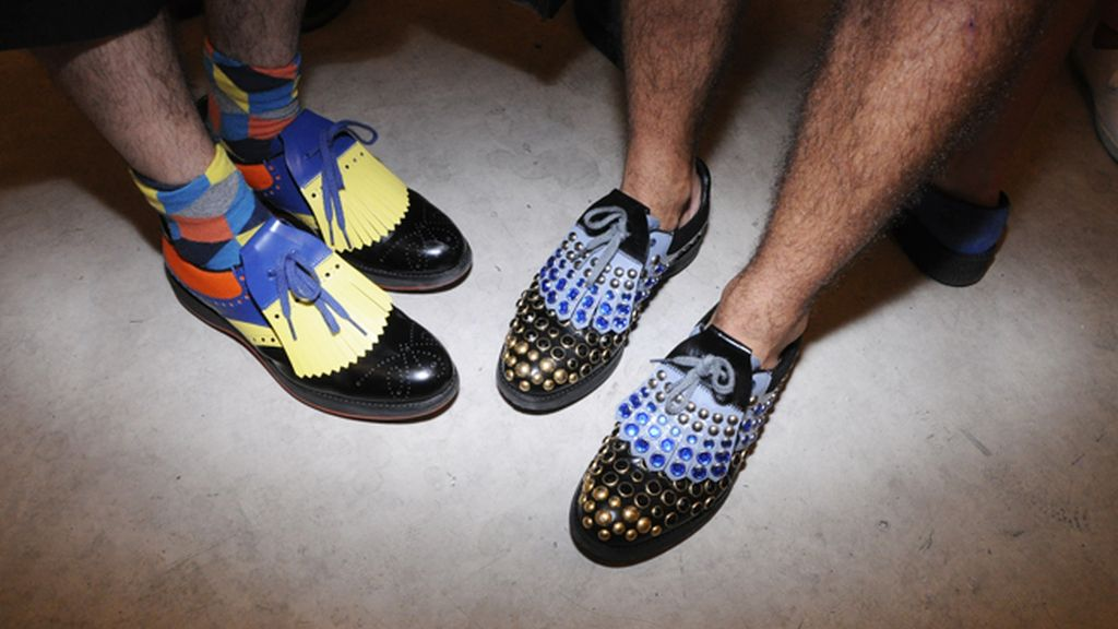 Los preciosos zapatos de Prada de Nacho Caballero y Roi Porto