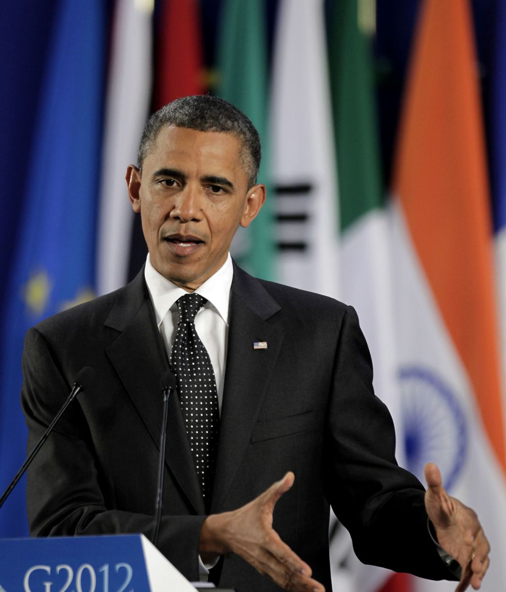 Obama en la rueda de prensa tras la cumbre del G-20 en Los Cabos