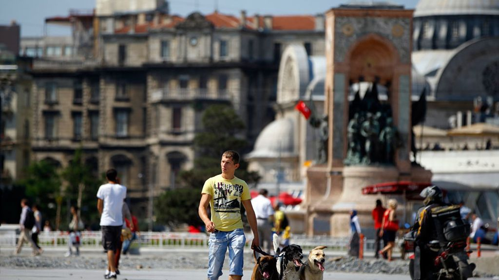 Tranquilidad en la plaza Taksim