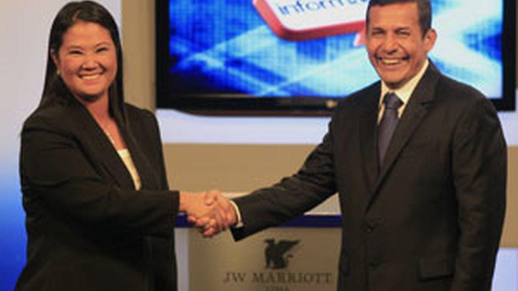 Keiko Fujimori y Ollanta Humala. GTRES.