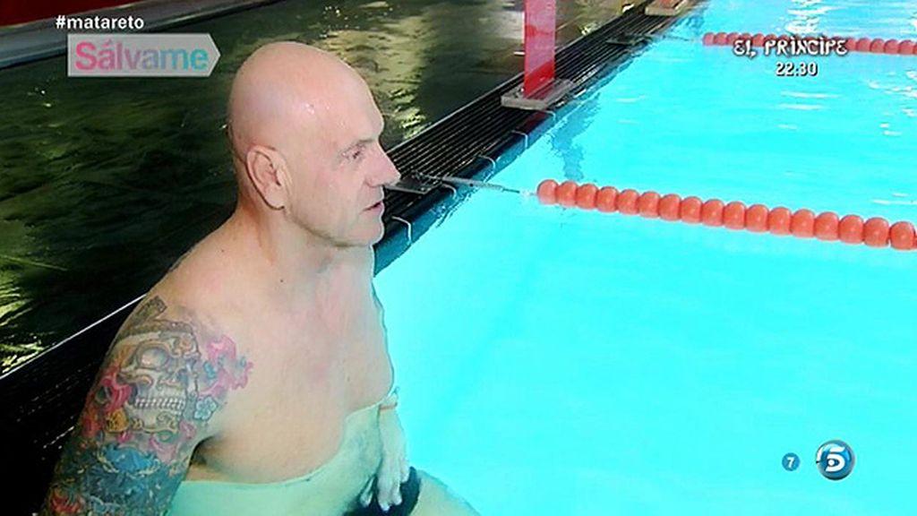 El colaborador, que asegura odiar el agua, deja el entrenamiento