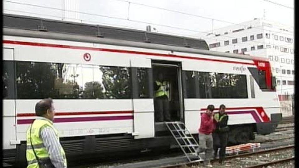 Simulacro de trenes