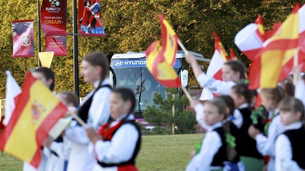 La selección española ya está en Polonia