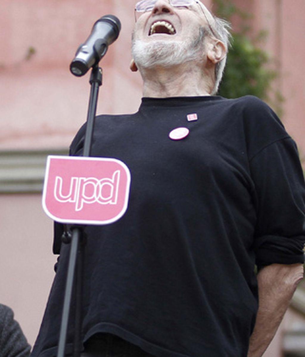 Alvaro Pombo en un mitin en Madrid de UPyD