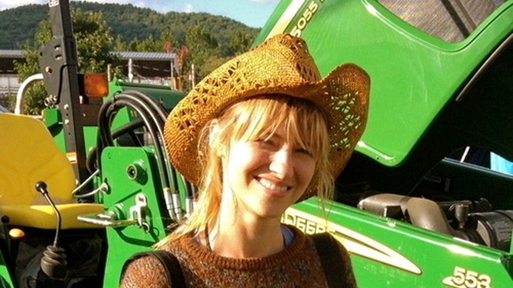 La modelo Sara Ziff en un foto de perfil de Twitter
