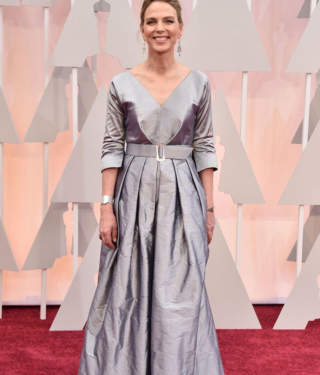 Tori Kove en la alfombra roja de los Oscar