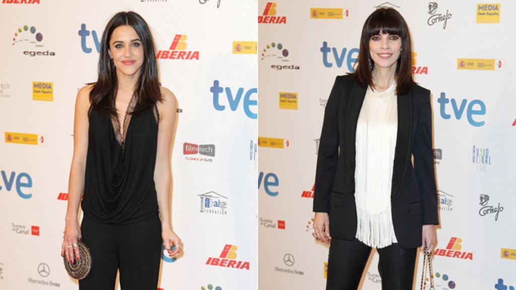 Las actrices de 'Blancanieves' optaron por los pantalones