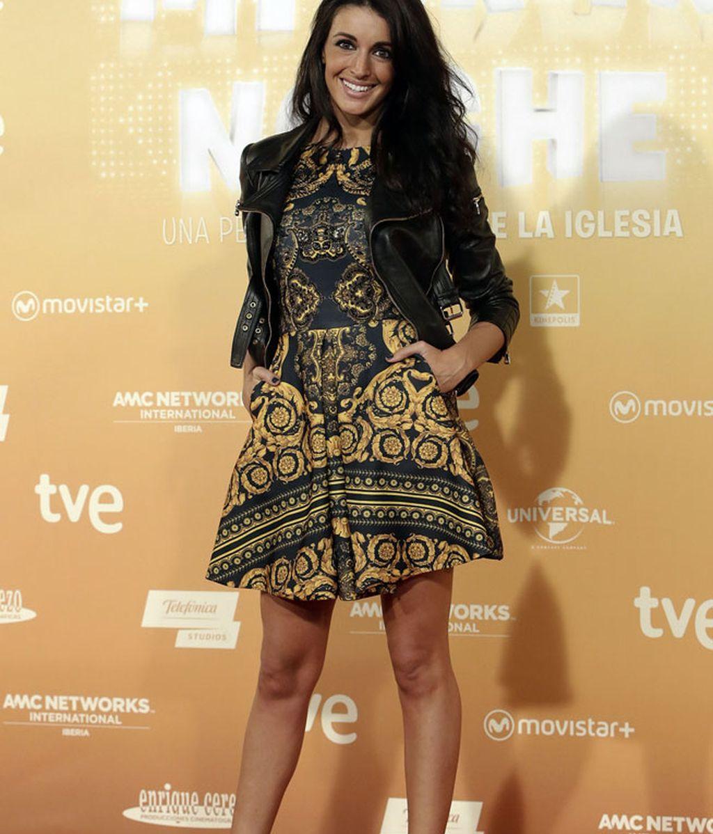 Noelia López, con un vestido de Jeu Poitrine
