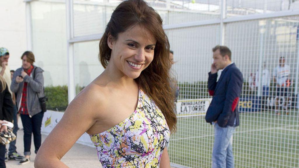 La presentadora Mónica Hoyos, muy sonriente