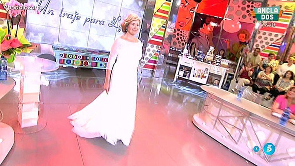 La colaboradora ha escogido entre seis vestidos