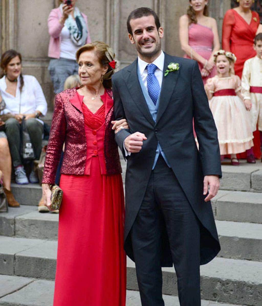 Pablo Lara con su madre Consuelo García Piriz