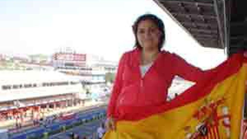 Raquel Mayoral en el Gran Premio de Montmeló 2008