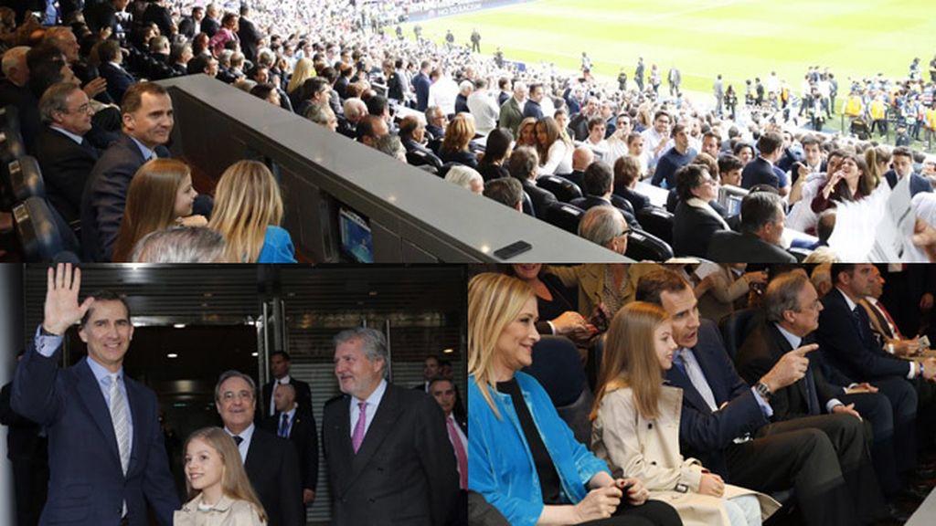 La Infanta Sofía, acompaña al Rey al Bernabéu para animar al Real Madrid