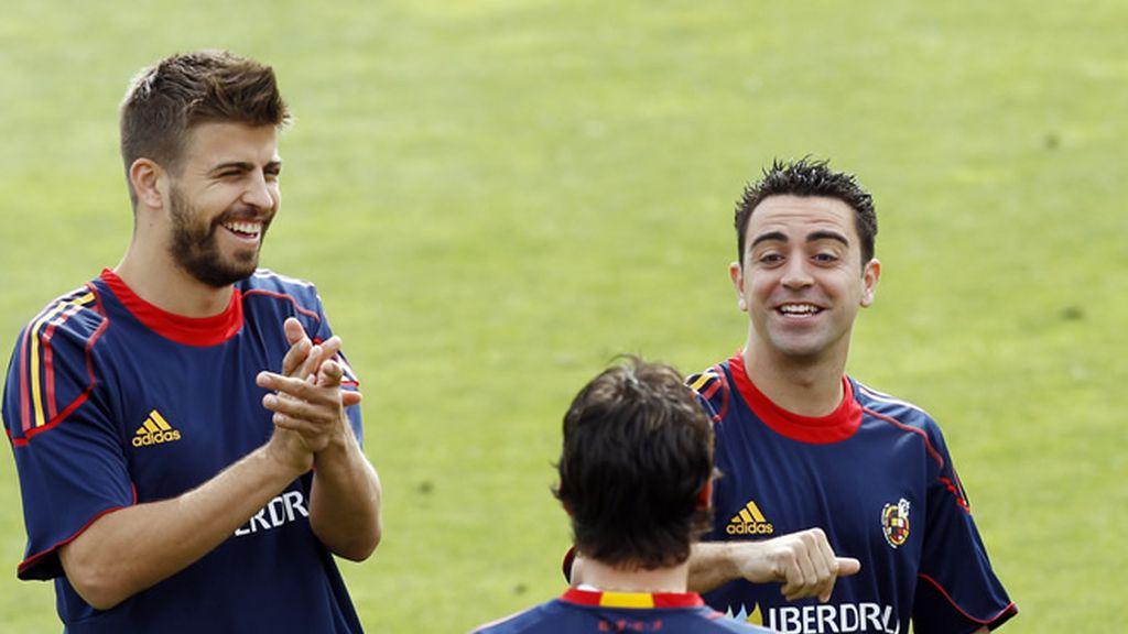 La Selección española, a punto de debutar