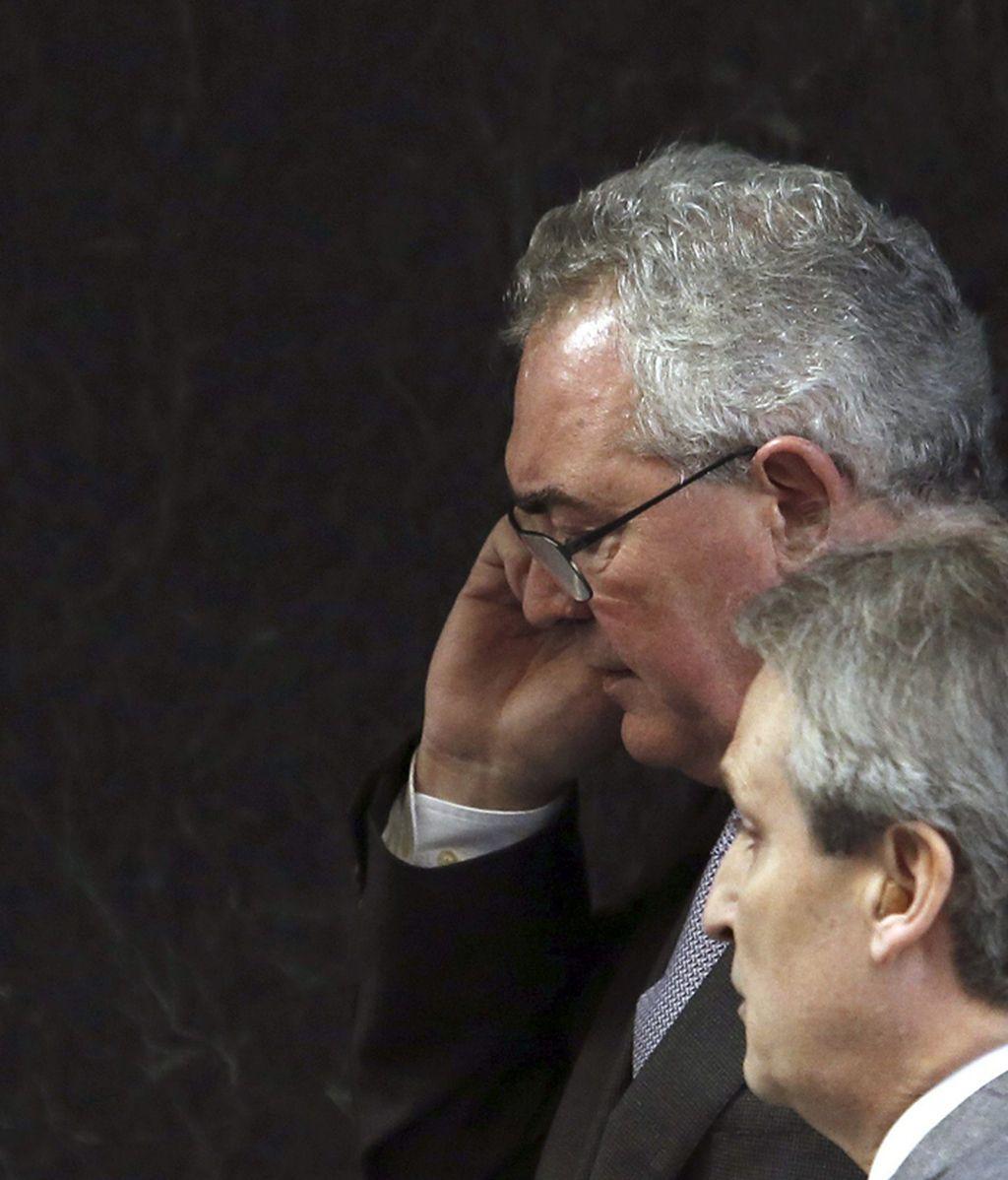 Francisco Verdú a su llegada a la Audiencia Nacional