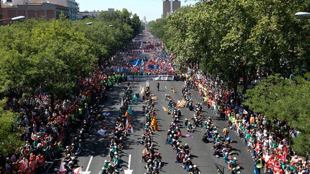 Carga policial contra los mineros en Madrid