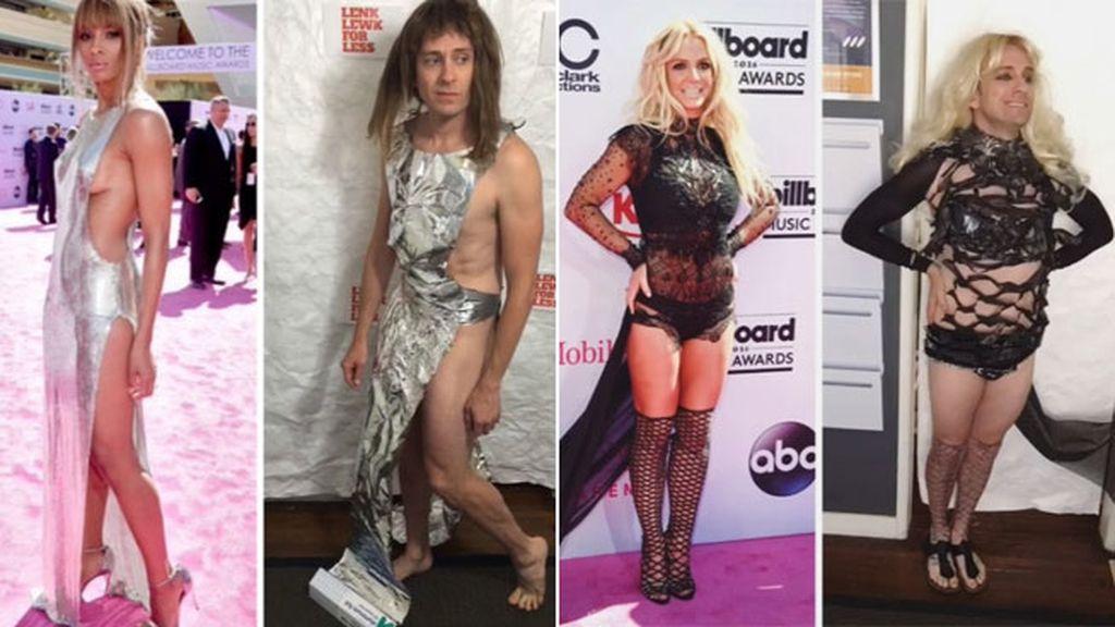 Para ser Ciara solo se necesita un poco de papel plata y una bolsa negra para Britney