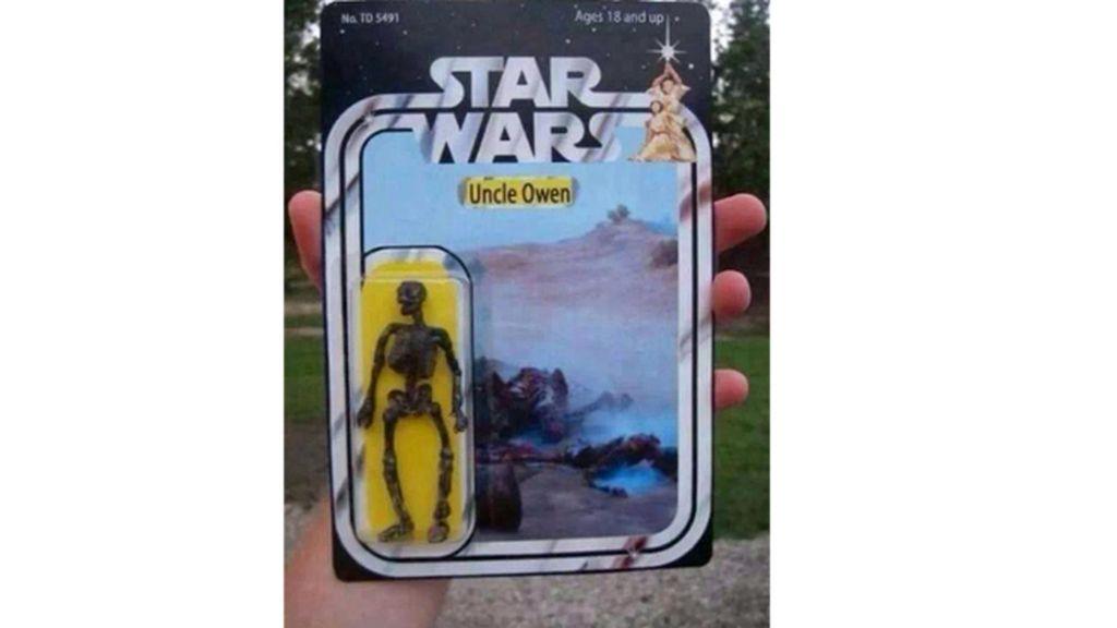 ¡El muñeco del tío de Luke Skywalker!