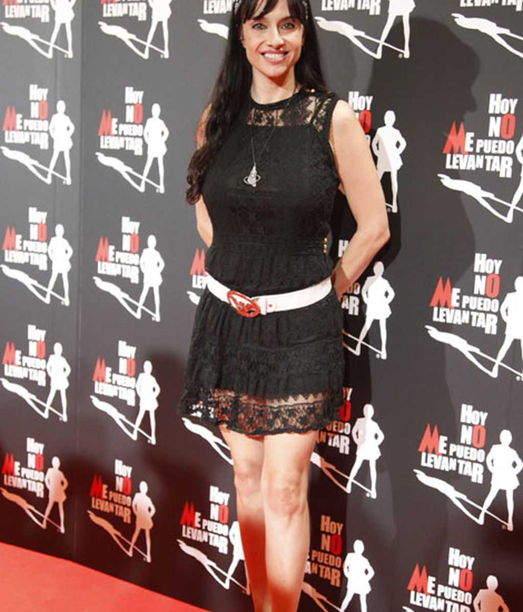 La actriz Beatriz Rico eligió un vestido negro
