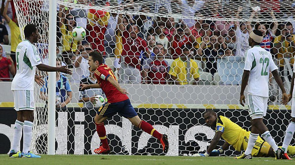 Jordi Alba adelantó a España ante Nigeria