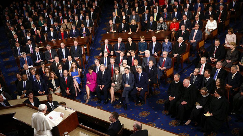 El papa Fancisco interviene ante la Cámara de Representantes de EE. UU.