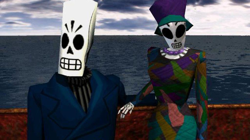 Manny Calavera y Merche Colomar (Grim Fandango)