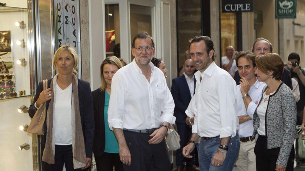 Rajoy, de campañana por Mallorca