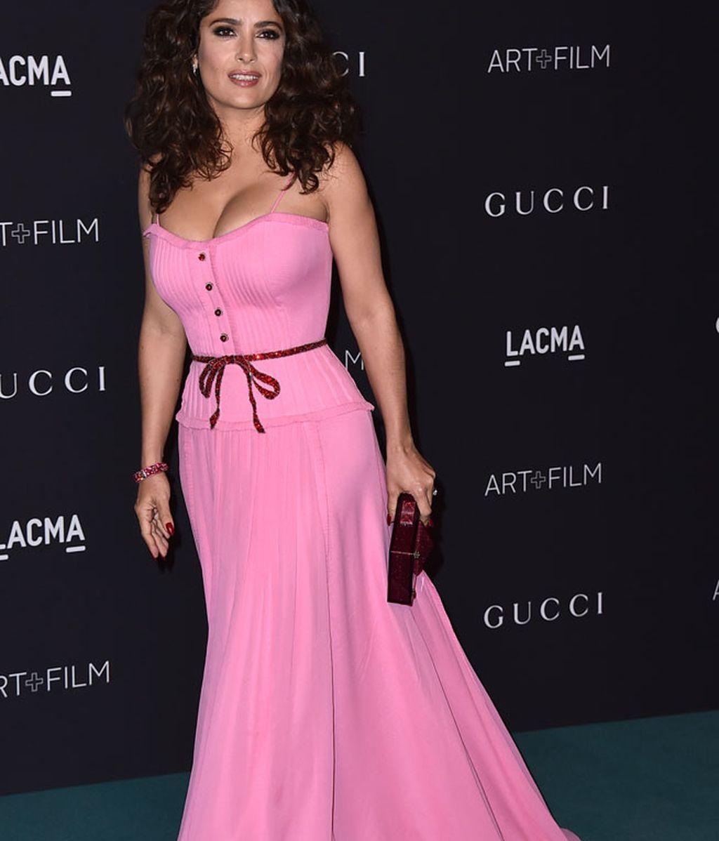 Salma Hayek con un Gucci muy 'hot'