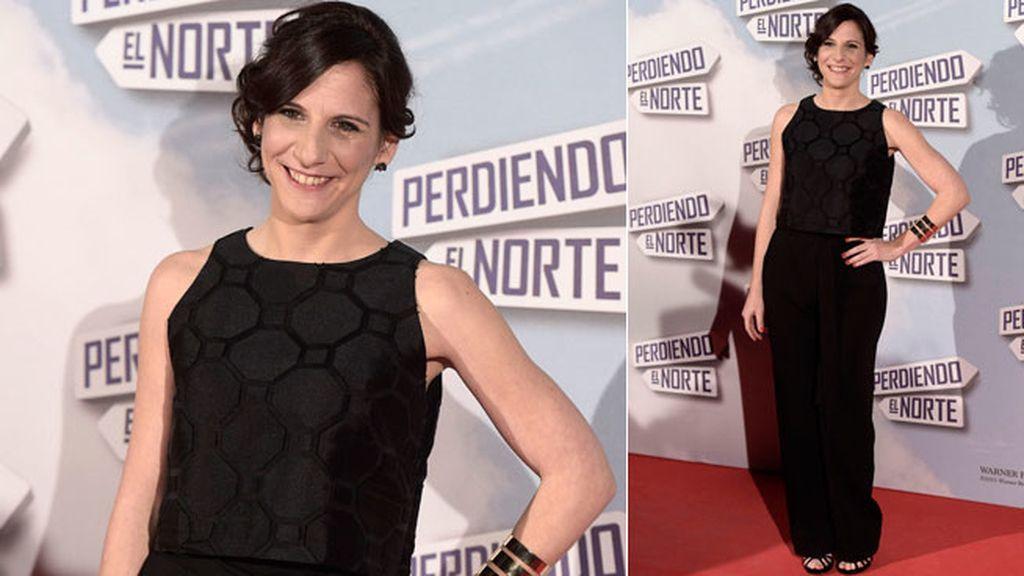 Malena Alterio, que forma parte del reparto de la película, con un dos piezas negro