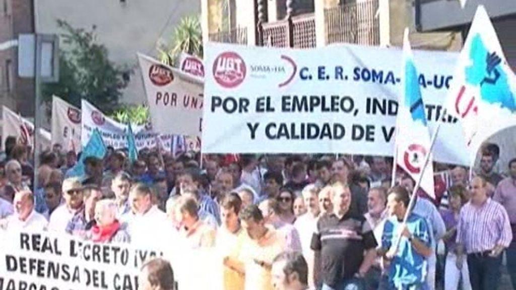 Protestas de los mineros