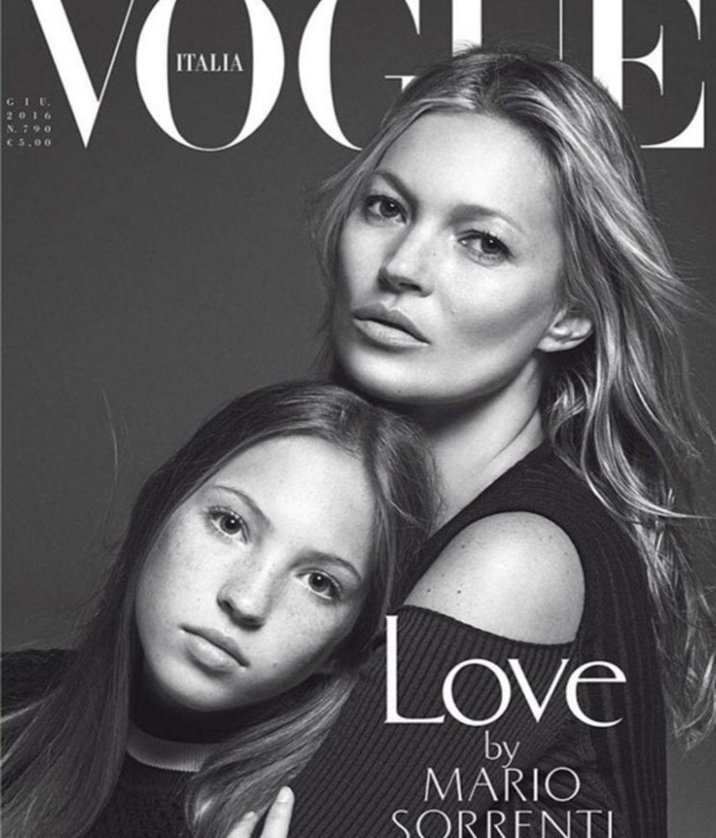 La primera portada de Vogue de la hija de Kate Moss con 13 años