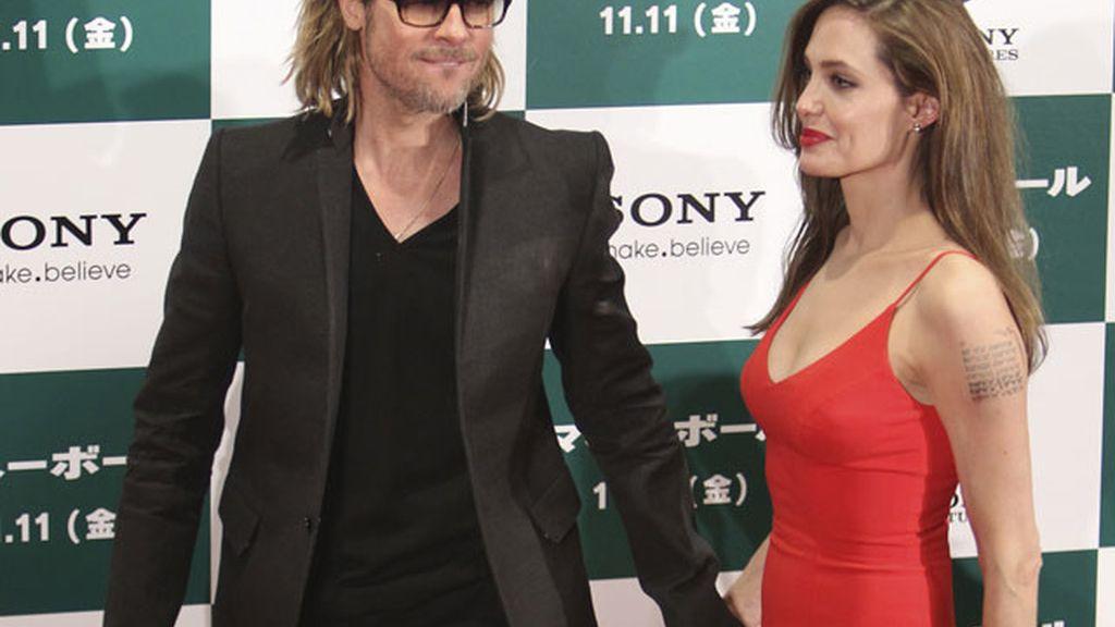 Imagen de archivo de Angelina Jolie y Brad Pitt