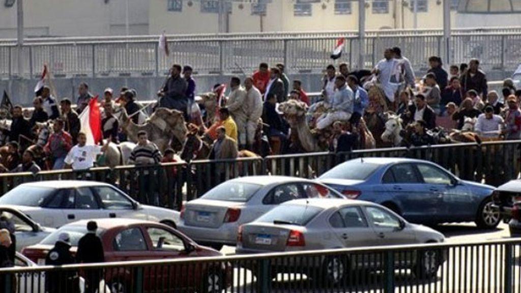 Partidarios de Murabak en las calles
