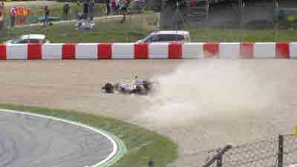 Salida de pista de Piquet Jr. en Montmeló