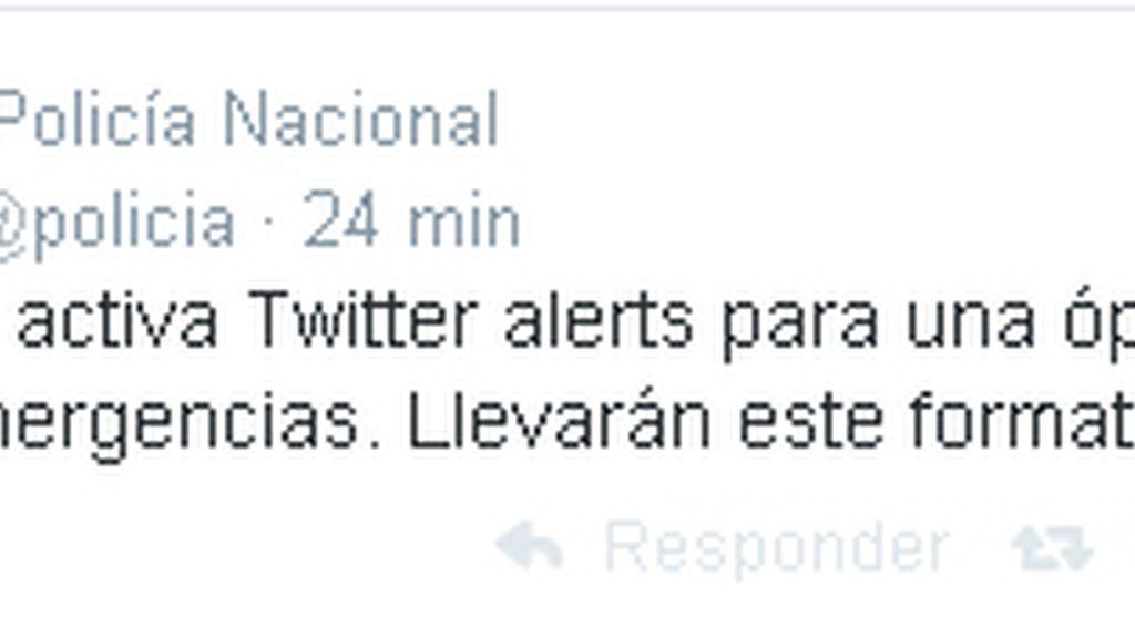 Twitter, Policía,