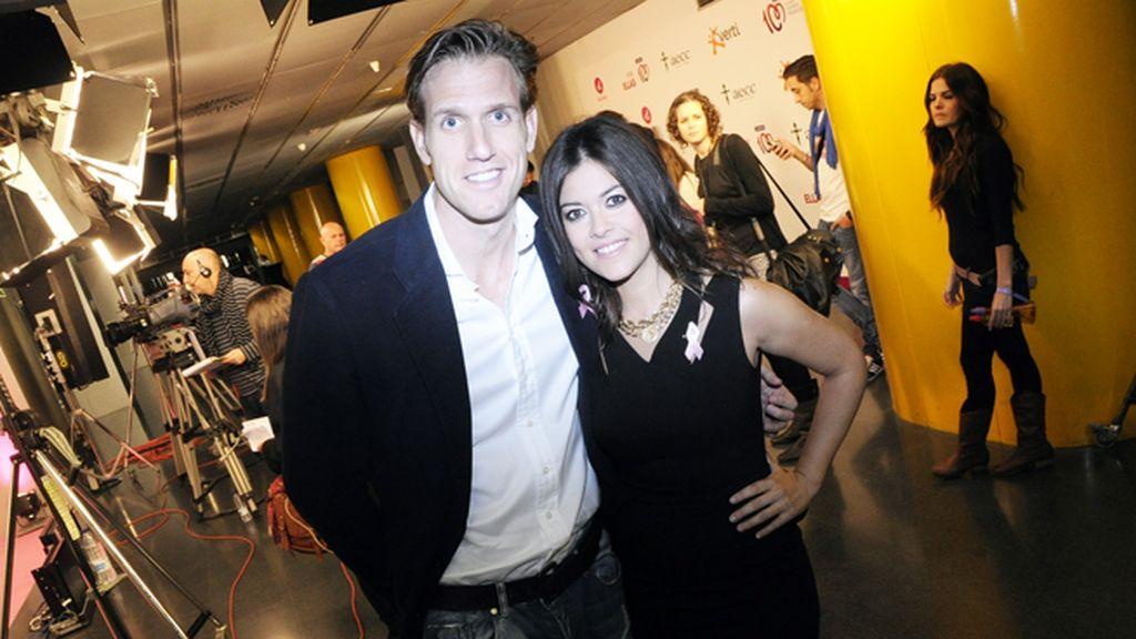 Óscar Martínez y la cantante Vanesa Martín