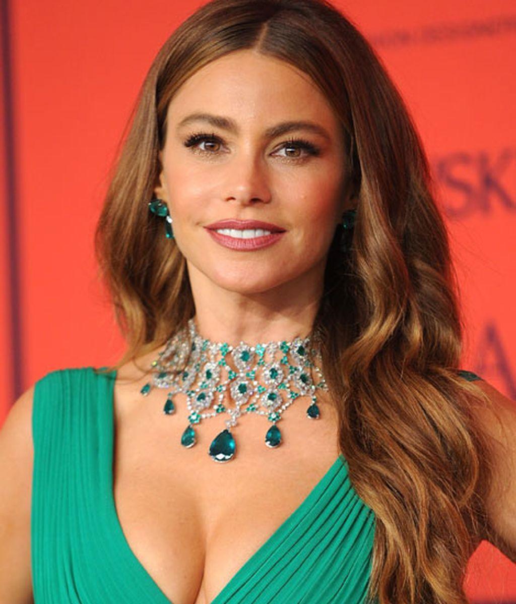 Sofía Vergara eligió el verde para su vestido