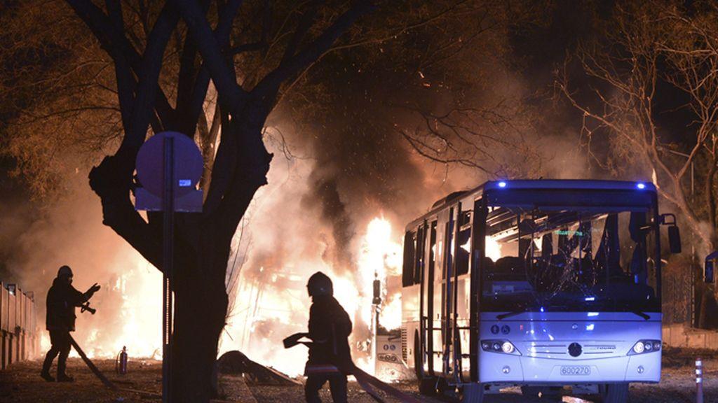 Fuerte explosión en Ankara