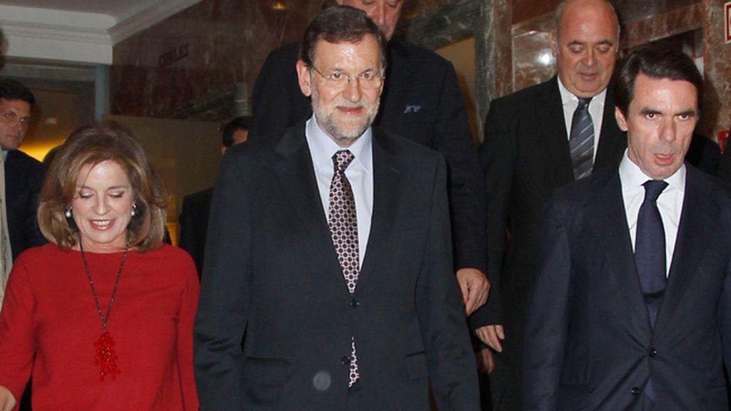 Rajoy quiso apoyar a su antecesor y a la alcaldesa de Madrid