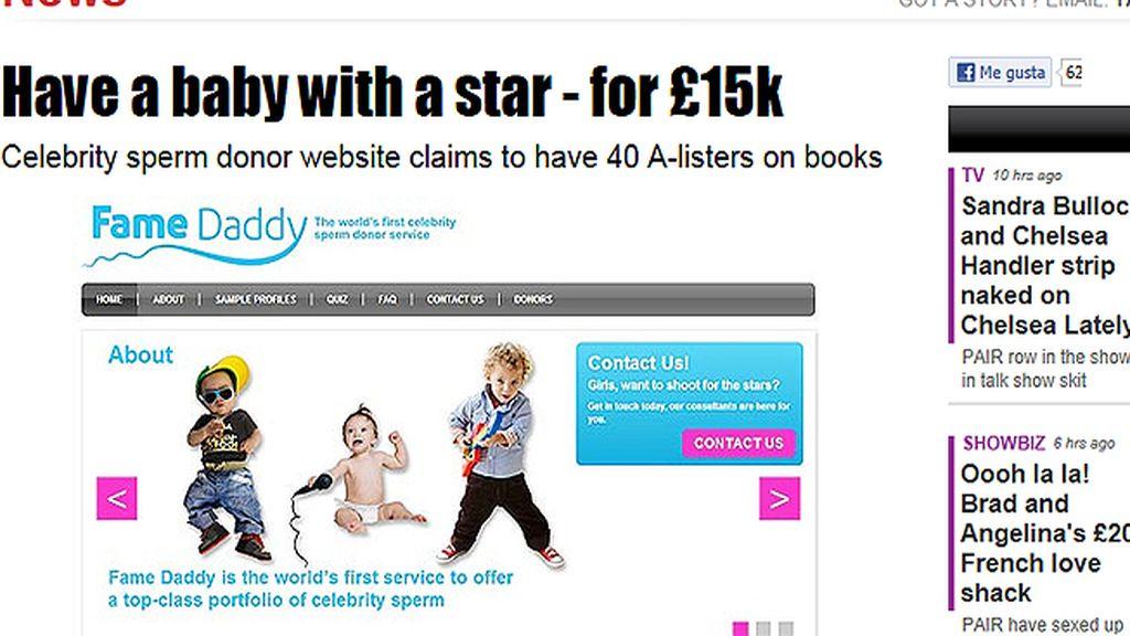 La web 'Fame Daddy' ofrece inseminaciones procedentes de famosos